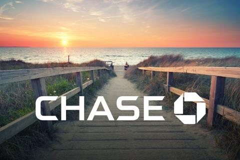 Chase, pathway to the beach with a sunset