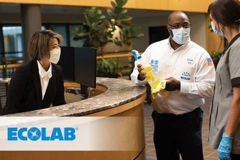 Ecolab, workers at a desk