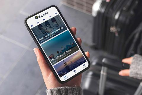 Expedia, mobile usage of the website
