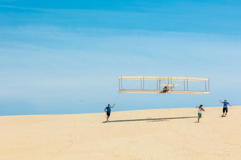 Kitty Hawk, North Carolina, person hang gliding
